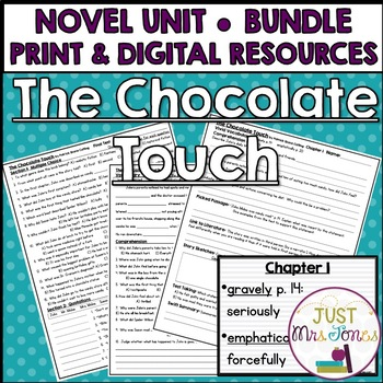 The Chocolate Touch Novel Unit