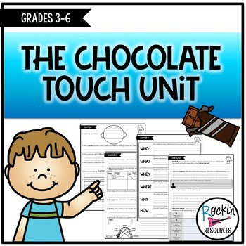 The Chocolate Touch Novel Unit with Reading Comprehension Questions