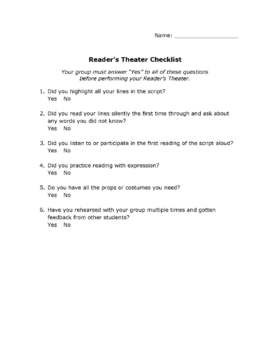The Chocolate Touch Reader's Theater