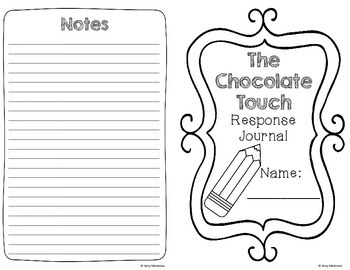 The Chocolate Touch Response Journal