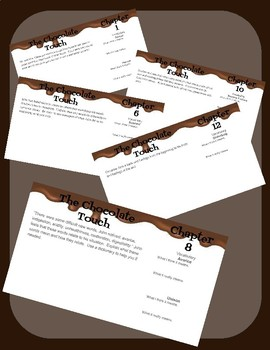 The Chocolate Touch Response Questions and Vocabulary For Google Classroom
