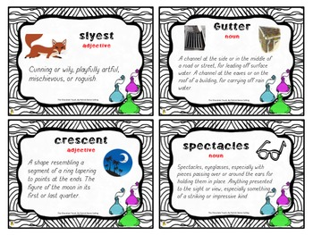 The Chocolate Touch Vocabulary Cards (Large/Small)