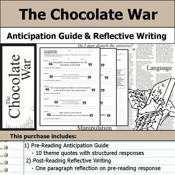 The Chocolate War - Anticipation Guide & Reflection Writing