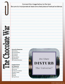 The Chocolate War Digital Interactive Notebook for Google Drive