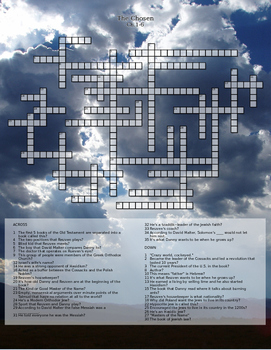 The Chosen Chapters 1-6 Crossword