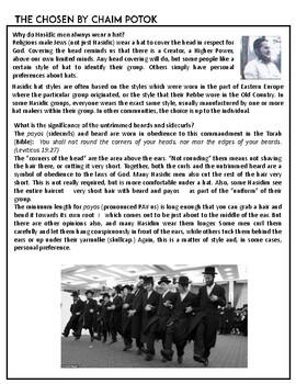 The Chosen by Chaim Potok - A Study Guide