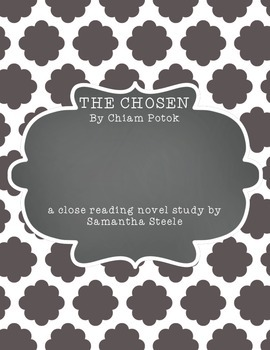The Chosen by Chiam Potok COMMON CORE ALIGNED unit study