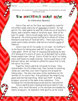 The Christmas Candy Caper: An Alliteration Mystery!
