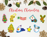 The Christmas Characters / Christmas Clipart / Christmas D