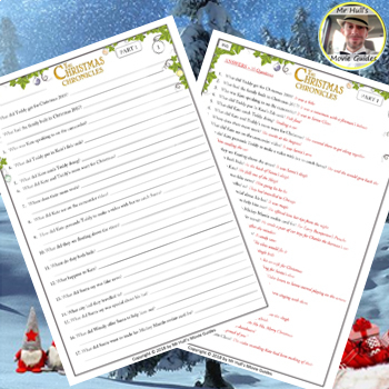The Christmas Chronicles 2.The Christmas Chronicles Movie Guide Activities Color B W