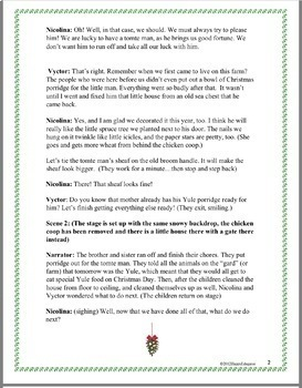 The Christmas Coin Play or Reader's Theater: Christmas Around the World Sweden