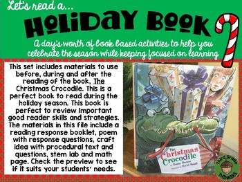 The Christmas Crocodile: A Day of Integrated Holiday Activities