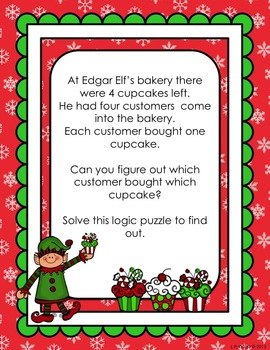 The Christmas Cupcake Caper - a logic puzzle
