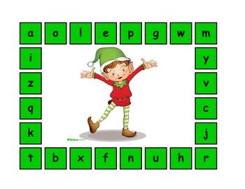 The Christmas Elf Alphabet Match!