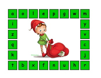 The Christmas Elf Alphabet Match!