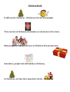 The Christmas Holiday Vacation - A Social Story