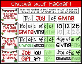 The Christmas Kindness Countdown