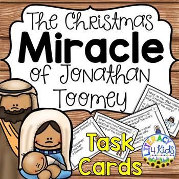 The Christmas Miracle of Jonathan Toomey Task Cards