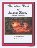 """The Christmas Miracle of Jonathan Toomey"" Literature Study Grades 2-4"