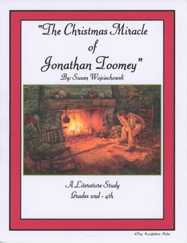 """""""The Christmas Miracle of Jonathan Toomey"""" Literature Study Grades 2-4"""
