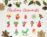 The Christmas Ornaments / Christmas Clipart / Christmas De