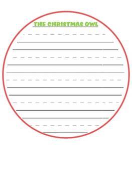 The Christmas Owl - A Primary Christmas Craftivity - Writing
