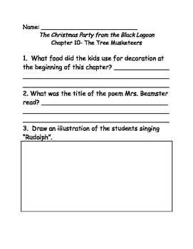 The Christmas Party from the Black Lagoon comprehension questions