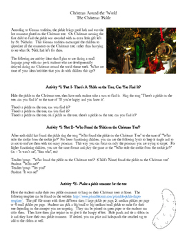 The Christmas Pickle- Preschool Langauge Activities