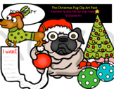 The Christmas Pug Clip Art Pack