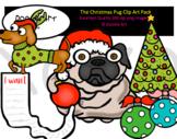 The Christmas Pug Clip Art Pack