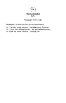 The Christmas Rat Vocabulary Packet