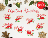 The Christmas Reindeer Vol.1 / Reindeers Christmas Clipart