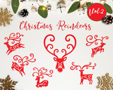 The Christmas Reindeer Vol.2 / Reindeers Christmas Clipart