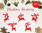 The Christmas Reindeer Vol.3 / Reindeers Christmas Clipart