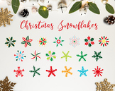 The Christmas Snowflakes / Christmas Clipart / Christmas D