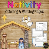 The Christmas Story Nativity, Jesus Coloring & Writing Pages Religious Christian