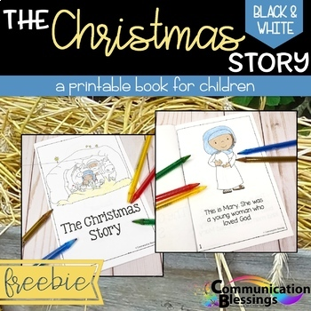 image relating to Free Printable Christmas Story called Xmas Nativity Tale Printable Reserve (Black and White Edition)