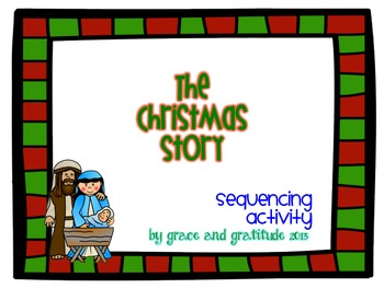 The Christmas Story Sequencing Activity