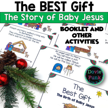 the christmas story the birth of baby jesus booklet emergent reader