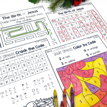 The Christmas Story The Birth of Baby Jesus Booklet Activities Emergent Reader