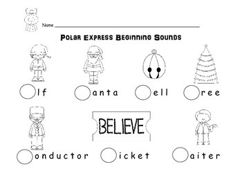 Christmas Polar Express Emergent Reader