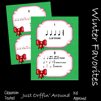 Christmas Music - The Christmas Traveler for spoons and body percussion.