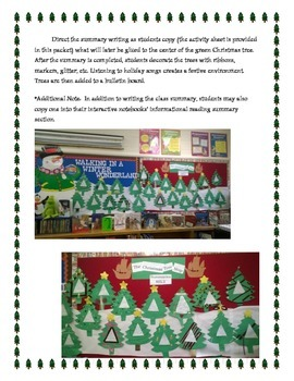 The Christmas Tree Ship - Writing Informational Summaries and More!
