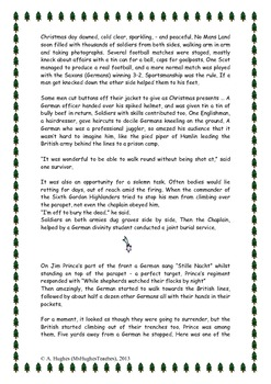 The Christmas Truce 1914 World War One history worksheet