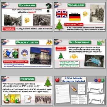 The Christmas Truce of World War 1- Lesson and Art Project