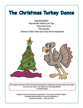 The Christmas Turkey Dance (includes mp3 files)