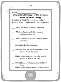 The Christmas Witch by Steven Kellogg Literary Unit with Activites