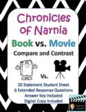 The Chronicles of Narnia Book vs. Movie Compare and Contrast