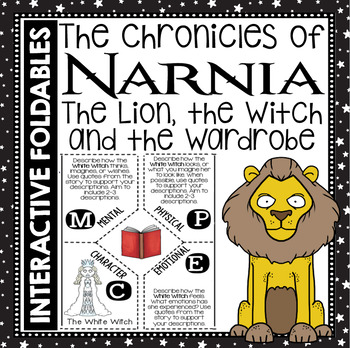 The Chronicles of Narnia: Reading and Writing Interactive Notebook Foldable