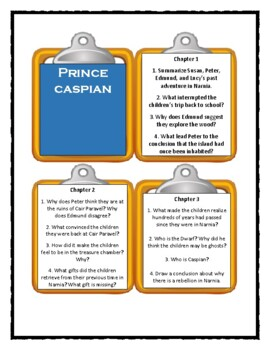 The Chronicles of Narnia - Prince Caspian - Discussion Cards